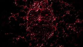Verärgertes blutiges Ghulgesicht Roter Hintergrund lizenzfreie stockbilder