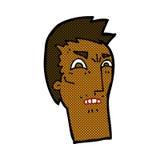 verärgertes Gesicht der komischen Karikatur Lizenzfreie Stockfotografie