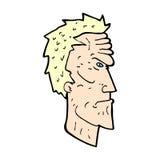 verärgertes Gesicht der komischen Karikatur Stockfoto