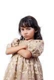 Verärgertes kleines Mädchen stockbilder