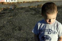 Verärgertes Little Boy Stockfoto