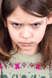 Verärgertes Mädchen lizenzfreie stockbilder