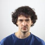Verärgertes Mannportrait Stockbild