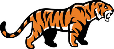 Verärgertes Tigermaskottchen des Vektors Lizenzfreies Stockbild