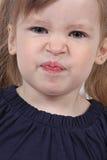 Verärgertes weibliches Kleinkind stockbilder