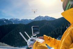 Ver controlerend een vliegende hommel Royalty-vrije Stock Foto