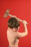Ver de oscillation de marteau d'étrier de garçon images stock