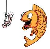 Ver de poissons Image libre de droits