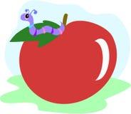 Ver de terre d'Apple illustration de vecteur