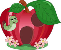 Ver de terre d'Apple illustration stock