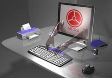 Ver de terre d'ordinateur Photos libres de droits