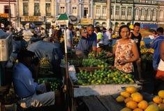 ver för peso för belem marknad o Arkivfoton