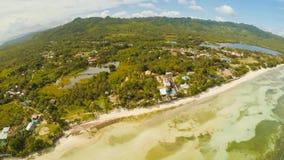 Ver Filippijns dorp Lucht Mening Het Eiland Bohol Andastad royalty-vrije stock fotografie