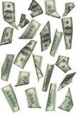 Ver geïsoleerdeo de regen van de dollar betwe Stock Foto's