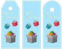 Ver mignon 3 de carte de voeux de Noël Photographie stock