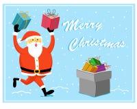 Ver mignon 1 de carte de voeux de Noël Image stock