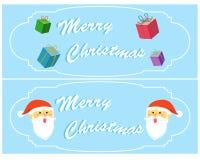 Ver mignon 4 de carte de voeux de Noël Image stock