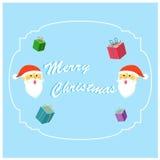 Ver mignon 5 de carte de voeux de Noël Images stock