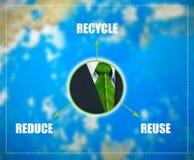 Ver*minderen-hergebruik-recycleer regeling Royalty-vrije Stock Afbeeldingen