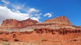 Ver rojo en el país Utah del filón del capitolio imágenes de archivo libres de regalías