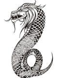 Ver sans jambes oriental de dragon Images libres de droits