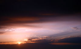 över soluppgång för rött hav Royaltyfria Foton
