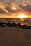 över Stillahavs- soluppgång Arkivfoto