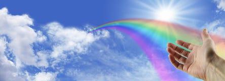 Ver um arco-íris magnífico Foto de Stock Royalty Free