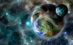 Ver, ver weg exoplanet royalty-vrije illustratie