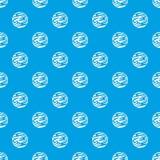 Ver weg het naadloze blauw van het planeetpatroon Stock Foto's