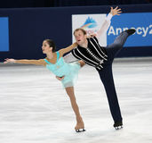 Vera BAZAROVA / Yuri LARIONOV (RUS) Stock Images