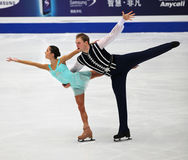 Vera Bazarova and Yuri Larionov of Russia Stock Image