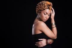 Vera bellezza africana Fotografia Stock Libera da Diritti
