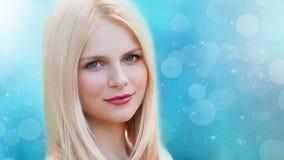 Vera, blonder Gesichtsnaturwinter! Lizenzfreie Stockfotografie