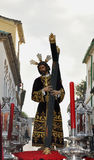 Vera crux brotherhood, Our Lord of kings. Easter córdoba 2011 Royalty Free Stock Images