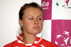 Vera Dushevina. BELGRADE - FEBRUARY 3 Russian tennis player Vera Dushevina on press conference, FED CUP SERBIA vs RUSSIA FEBRUARY 3, 2010 in Belgrade, Serbia Royalty Free Stock Images