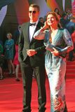 Vera Sotnikova and Alexey Vorobyov at Moscow Film Festival Royalty Free Stock Photos