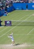 Vera Zvonareva. At Eastbourne 2011 quarter-final against Samantha Stosur Royalty Free Stock Photo