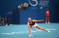 Vera Zvonareva of Russia in action Royalty Free Stock Photo