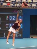 Vera Zvonareva van Rusland bij 2010 Open China Stock Fotografie