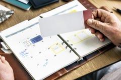 Verabredungs-Checkliste, die persönlichen Organisator Concept plant Lizenzfreie Stockfotos