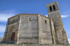 Veracruz medieval church, ancient templar church in Segovia, Spain.  Royalty Free Stock Image
