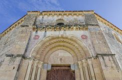 Veracruz medieval church, ancient templar church in Segovia, Spain Stock Image