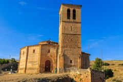 Veracruz medieval church, ancient templar church in Segovia Royalty Free Stock Photography