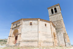 Veracruz medieval church, ancient templar church in Segovia Royalty Free Stock Photos