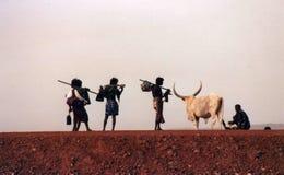 Verafgelegen herders royalty-vrije stock afbeeldingen