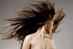 överallt hår Arkivfoto