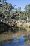 Veraltete Brücke, die Onkaparinga-Fluss, Kangarilla, Süd-Aus kreuzt Stockfotos