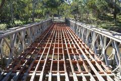Veraltete Brücke, die Onkaparinga-Fluss, Kangarilla, Süd-Aus kreuzt Lizenzfreie Stockfotos