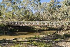Veraltete Brücke, die Onkaparinga-Fluss, Kangarilla, Süd-Aus kreuzt Lizenzfreie Stockfotografie